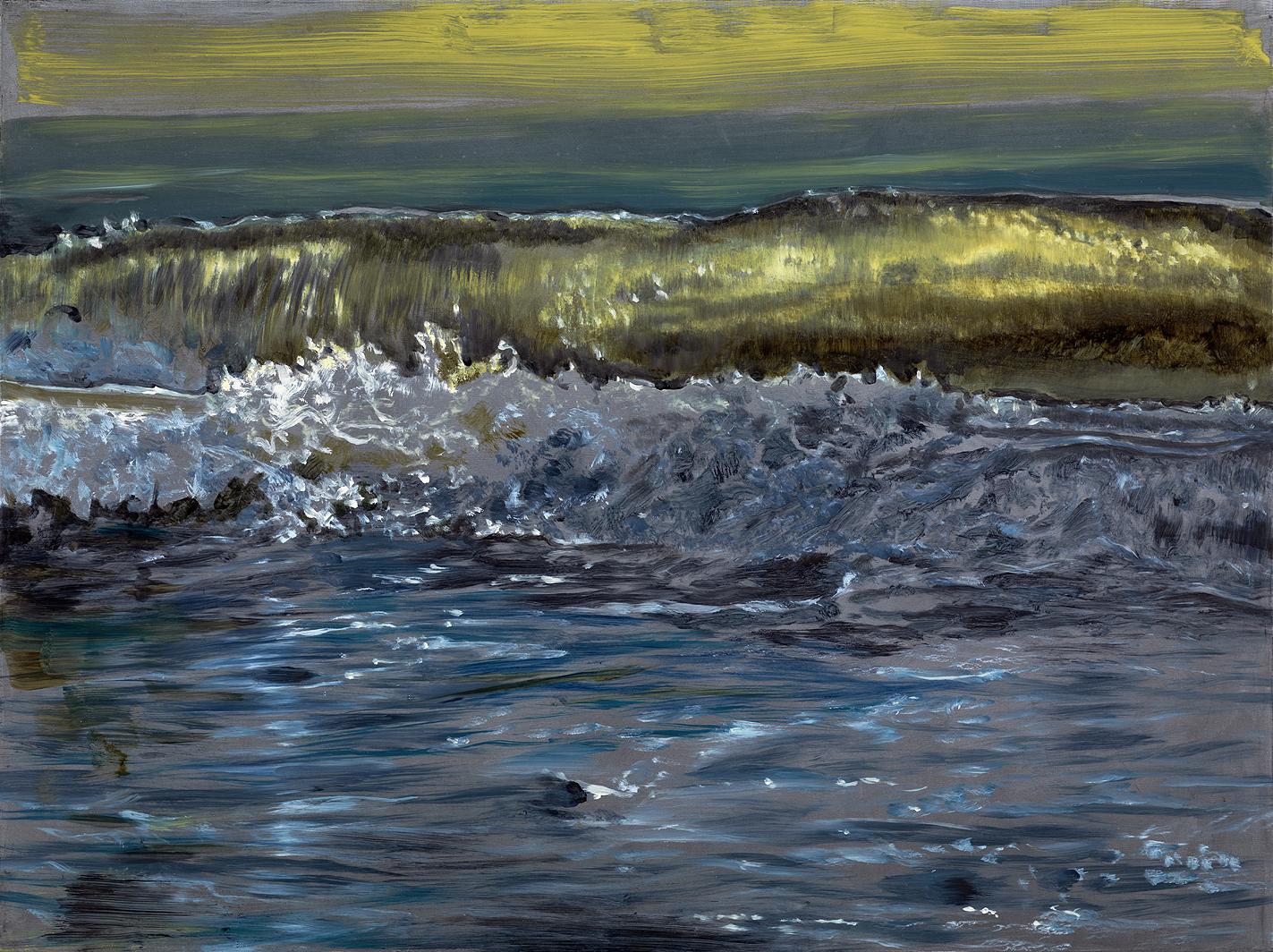 backlit waves
