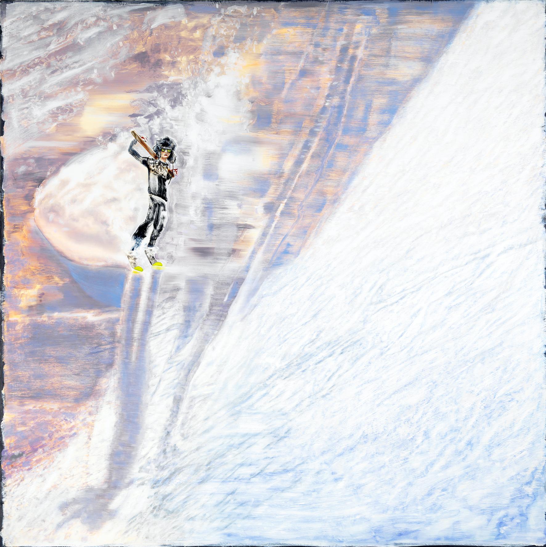 he wrote the lyrics while skiing